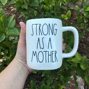 Rae Dunn STRONG AS A MOTHER Coffee Mug